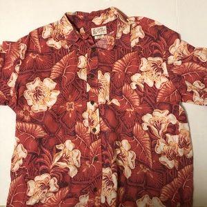 Lucky Brand Mens XL Red Hawaiian Shirt